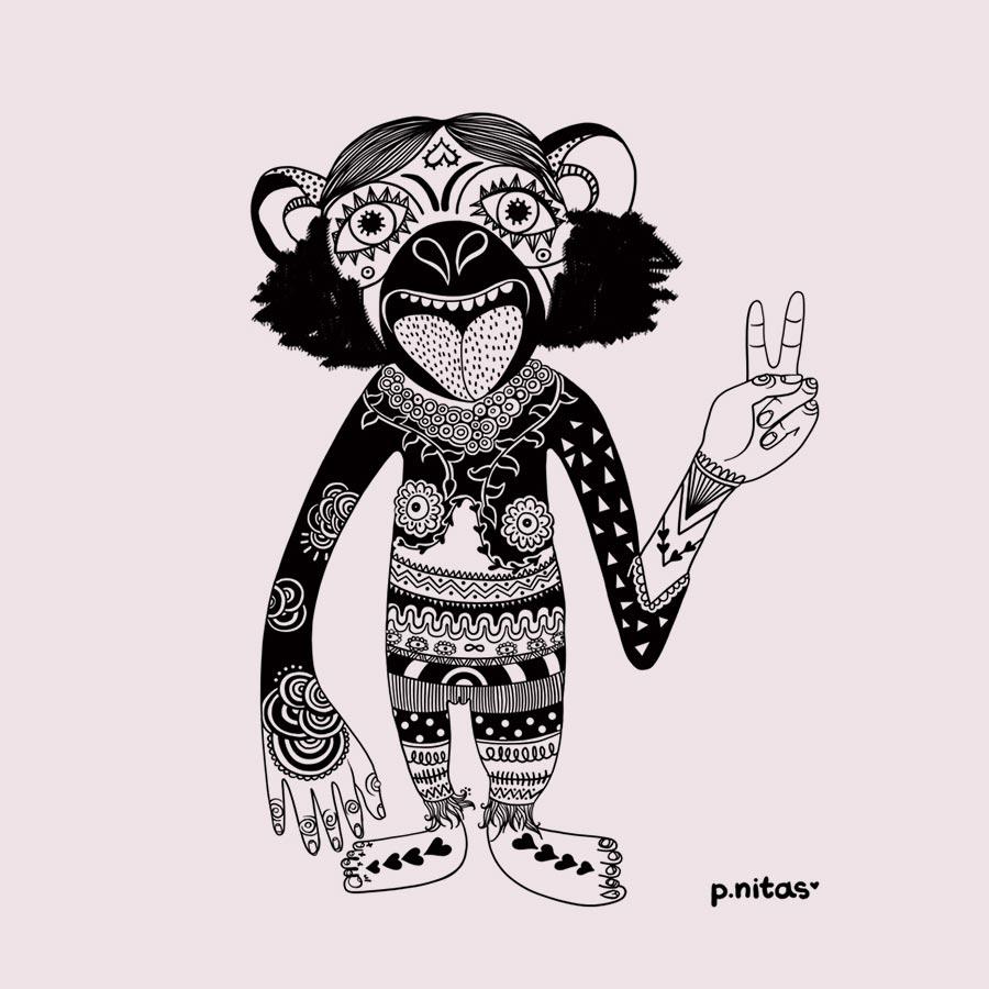 bonobo-ilustracion-pnitas