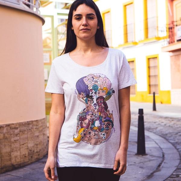 8m huelga camiseta feminista mujer regalar comprar ilustración pnitas 1