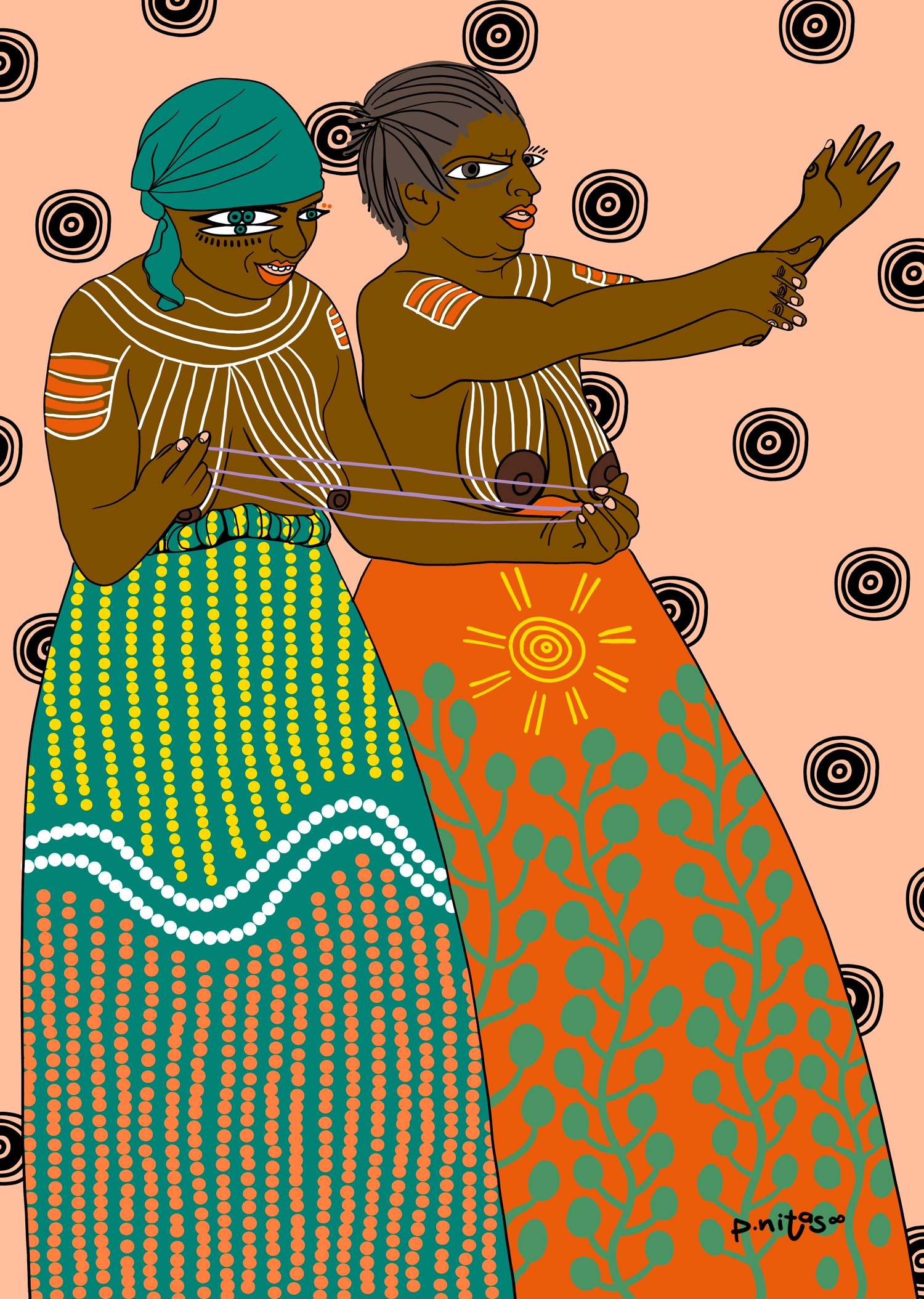 Ilustración feminista aborigenes Australia
